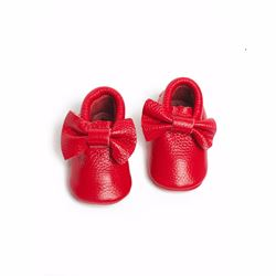 Só Collective Rain Corner red baby shoes