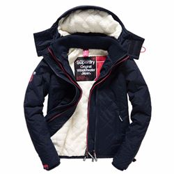 Superdry Women's hooded sherpa quilted windcheater