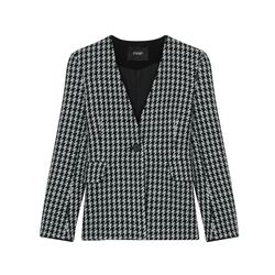 Maje Wool Houndstooth Jacket
