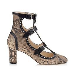 Jimmy Choo Hartley 65 Leather Round Toe Booties with Studs