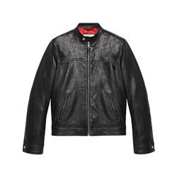 Gucci Men's Biker jacket in black leather