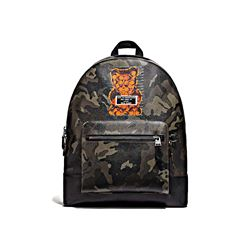 Coach men's West Backpack in Gummy Bear Motif