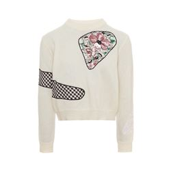 Cut out crew neck jumper