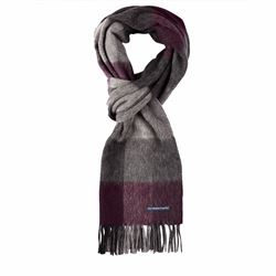Savoy Taylors Guild Purple check scarf