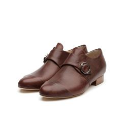 Só Collective Liam Fahy brown buckle shoes