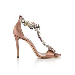 Jimmy Choo Dusty Rose Satin Reign 100 Shoes