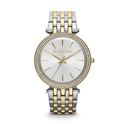 Michael Kors women's watch in silver by Watch Station International at Wertheim Village