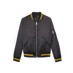 The Kooples, Black satin varsity jacket