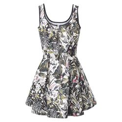 dress with flower prints