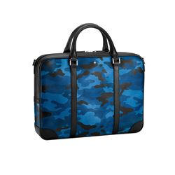 Montblanc Men's Blue Camouflage Document Case