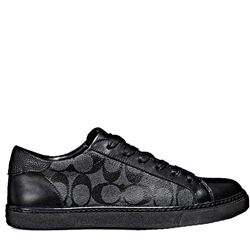 Men's sneaker in black by Coach at Wertheim Village