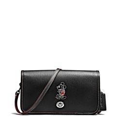 Damen-Handtasche 'Mickey Leather Penny Crossbody' in Schwarz von Coach in Wertheim Village