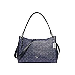 Coach Women's Denim Signature Mia Shoulder Bag
