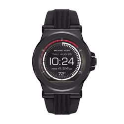 Watch Station Michael Kors Access Dylan black silicone smartwatch