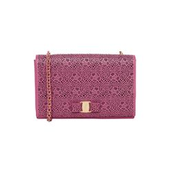 Salvatore Ferragamo pink Clutch bag with bow from Bicester Village
