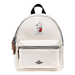 Coach Chalk Mickey Leather Mini Charlie Backpack from Bicester Village