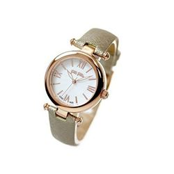 Cream and Gold leather strap Swiss made