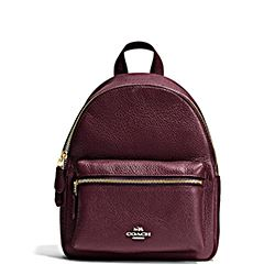 Coach mini oxblood backpack