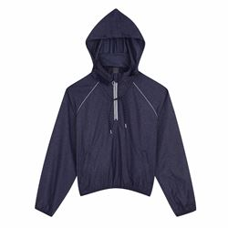 Denim nylon windbreaker
