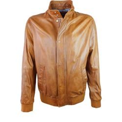 Leather jacket in brown by Baldessarini at Ingolstadt Village