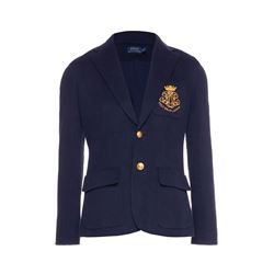 Button Blazer with Crest