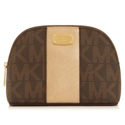 Travel bag in brown/gold by Michael Kors at Ingolstadt Village