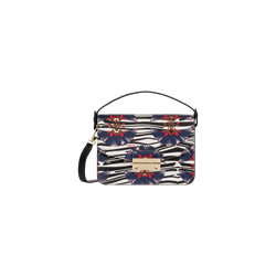 Furla Julia small shoulder bag in printed saffino leather