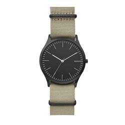 Skagen watch in black-green Watch Station International at Wertheim Village