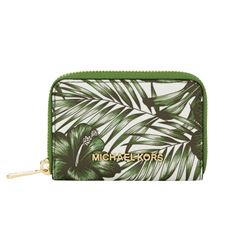 Michael Kors Jungle Jet Set Travel Zip Around Coin Case