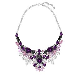 Necklace in purple