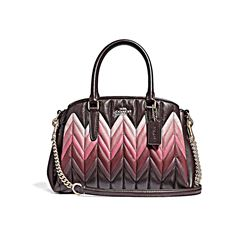 Coach Oxblood Multi Ombre Quilted Leather Mini Sage Carryall