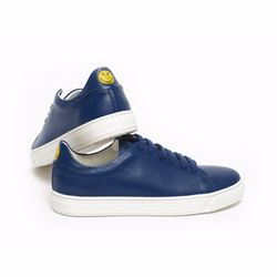 Anya Hindmarch Smiley blue tennis shoes