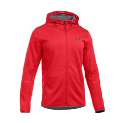 Men's jacket in red by Under Armour at Wertheim Village
