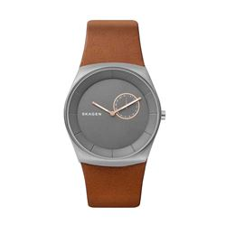 Skagen men's watch in brown by Watch Station International at Wertheim Village