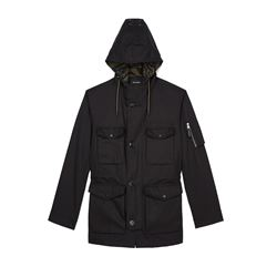 Black Hooded Parka
