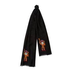 Paul Smith Men's Black Monkey Scarf