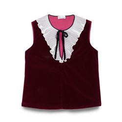 REDValentino, Velvet top with frill collar