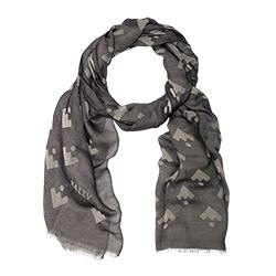 Scarf in grey by Bally at Ingolstadt Village