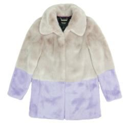 Juicy Couture Faux fur coat in mink and purple