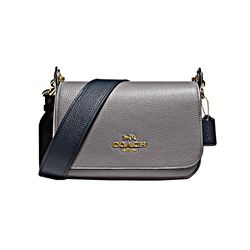 Coach women's grey chalk multi Colorblock Leather Small Jes