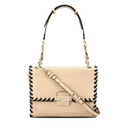 'Whipstitch' Handtasche in Creme