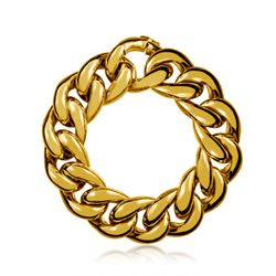 Thick golden bracelet