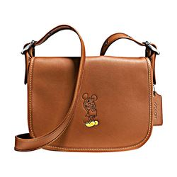 Mickey Leather Shoulder Bag Coach Disney