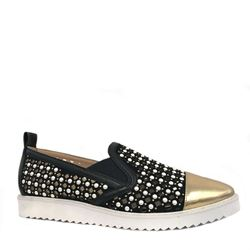 'Carrie Pearl Sneaker' in Black-Gold by Karl Lagerfeld at Ingolstadt Village