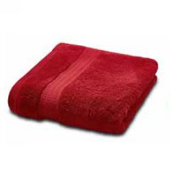 Bedeck Alessa Towels in Crimson
