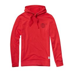 Men's hoodie in red by Marc O'Polo in Wertheim Village