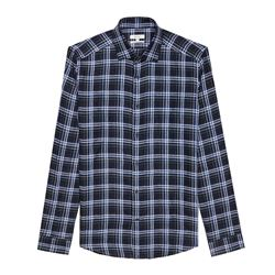 Men's Checked Linen Shirt
