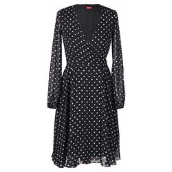 Black Wrap Dress with Dots