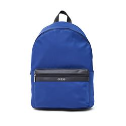 Guess Men's Blue Adams Nylon Backpack