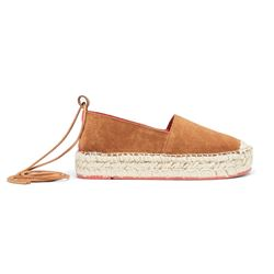 Brown suede espadrille